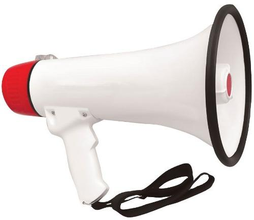 Bullhorn Siren Rechargeable Jack Record Football, Baseball, Basketball Fans and Coaches for PMP48IR