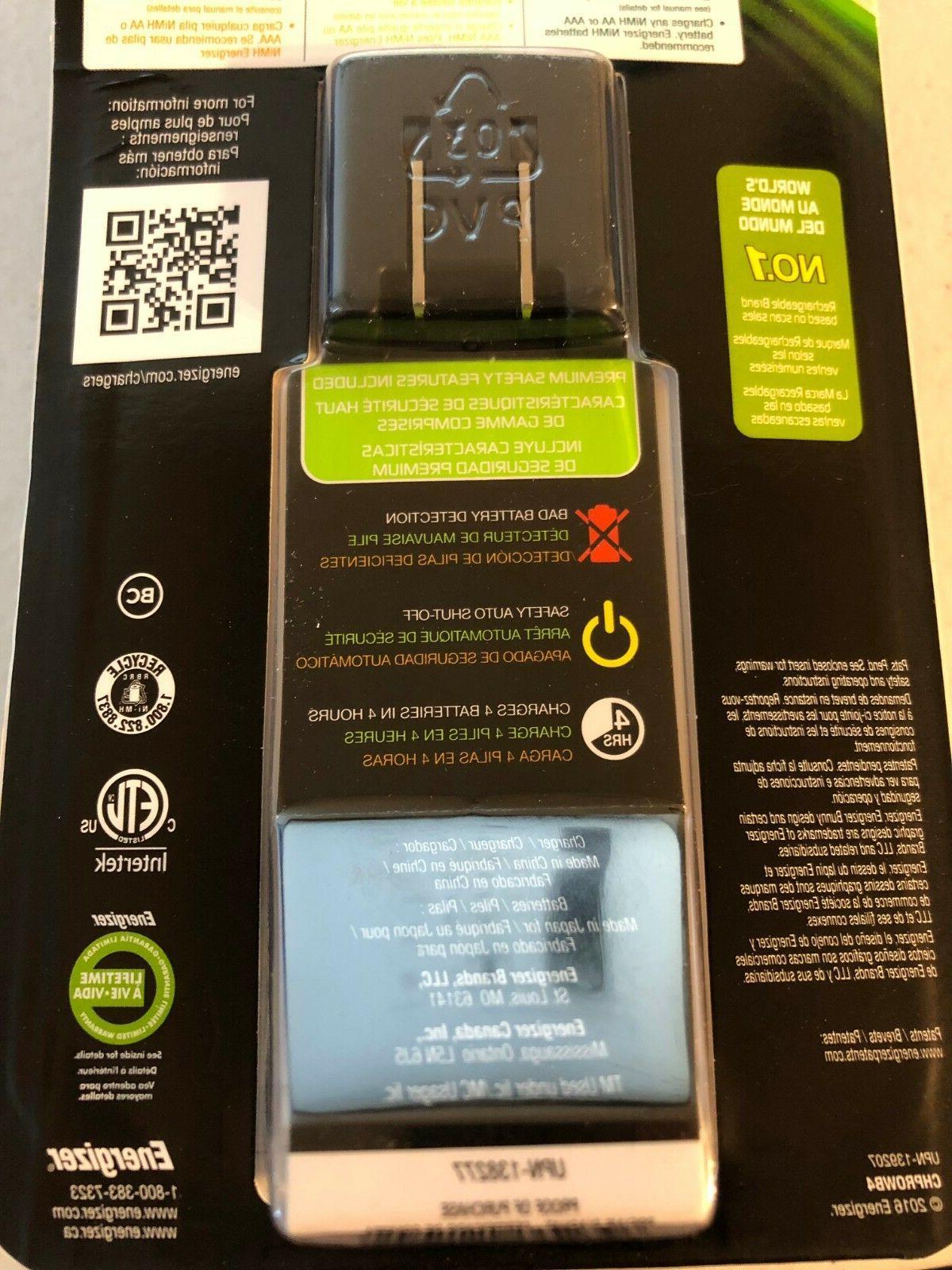Energizer Rechargeable AA AAA Battery Charger 4 AA NiMH