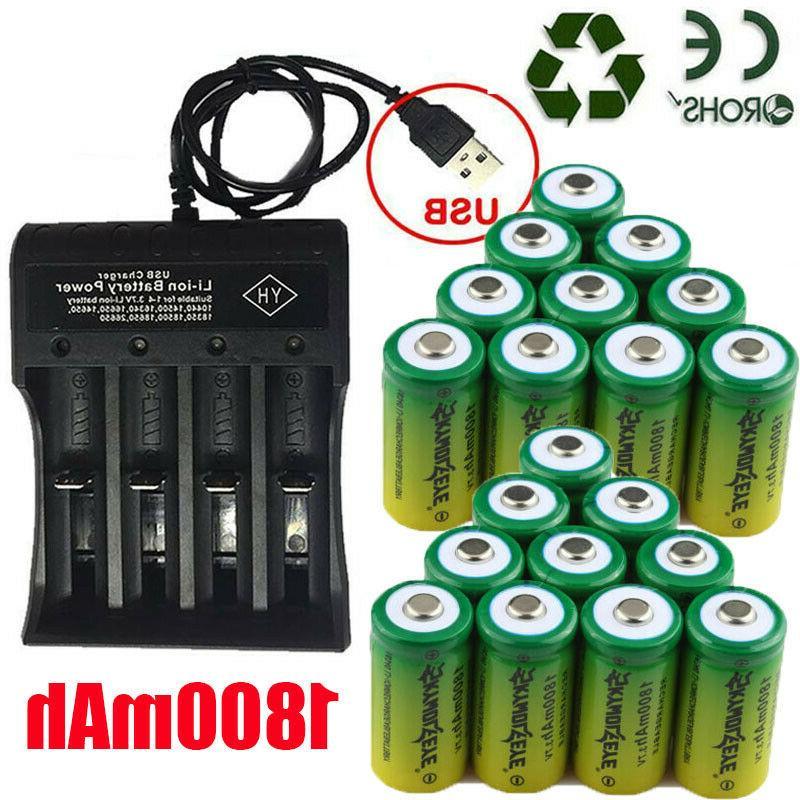 rechargeable batteries 3 7v li ion cr123a