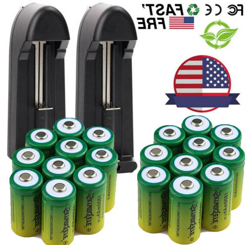 Rechargeable CR123A for Security Lot `