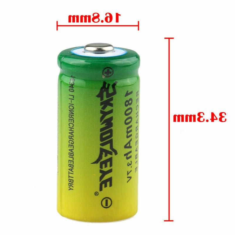 30X Rechargeable Battery CR123A 3.7V