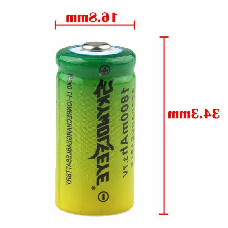 Rechargeable Batteries 3.7V Li-Ion CR123A