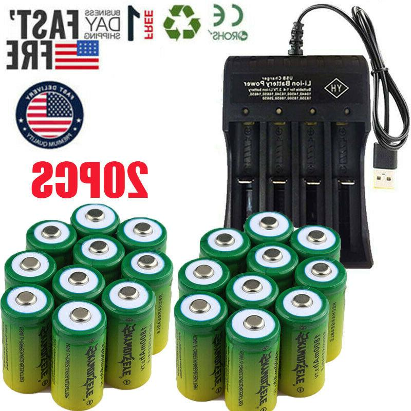 20* Rechargeable 16340 3.7V CR123A Arlo Security