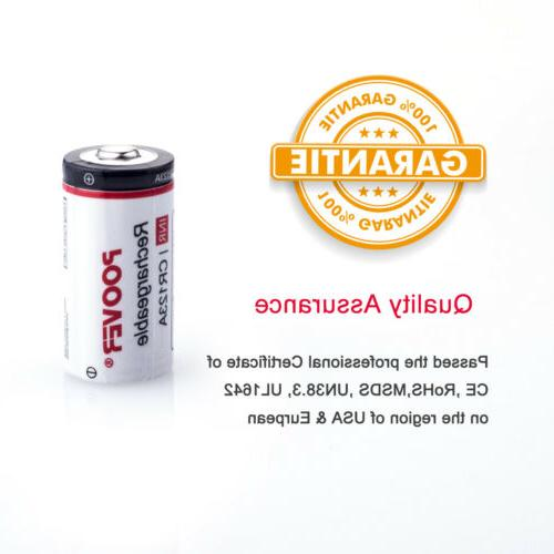 8-16*CR123A Batteries Rechargeable Lithium-ion for Arlo Camera CR123 USB Charger