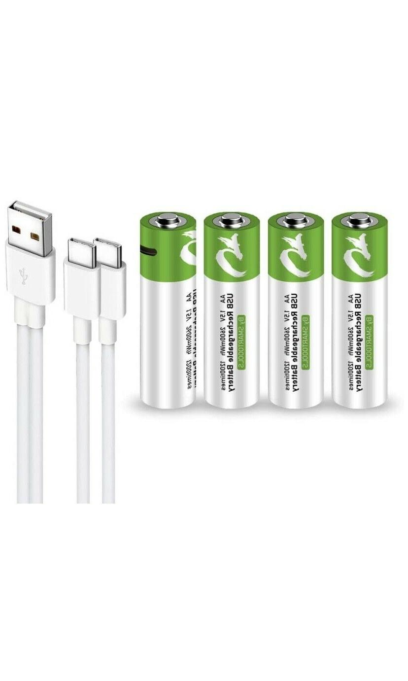 Rechargeable USB with Type Cable Battery