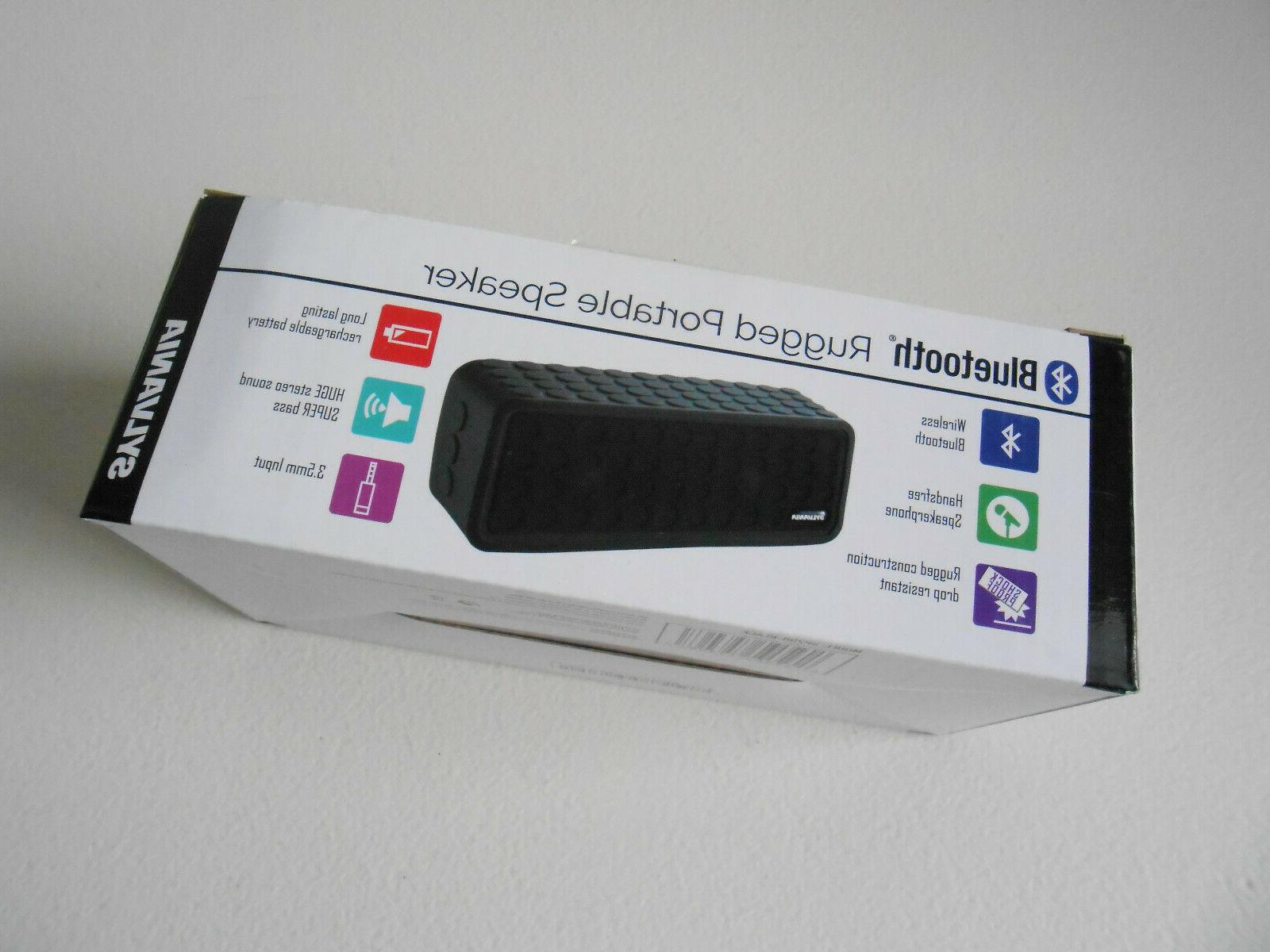 rugged bluetooth sp258 black rechargeable battery speakerpho
