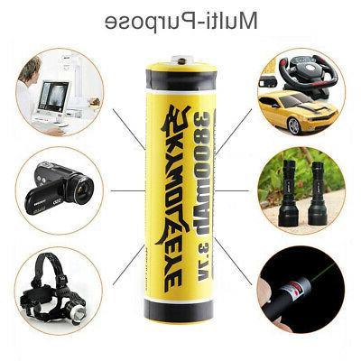 Skywolfeye Battery 3.7V Rechargeable Flashlight Headlamp DA