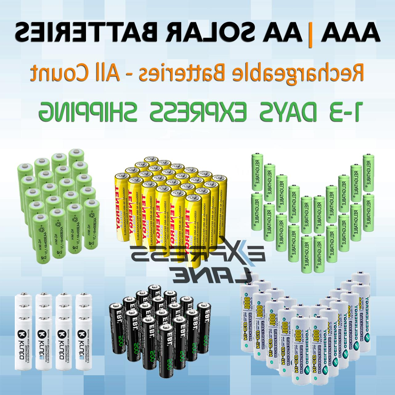 solar battery rechargeable aa or aaa ni