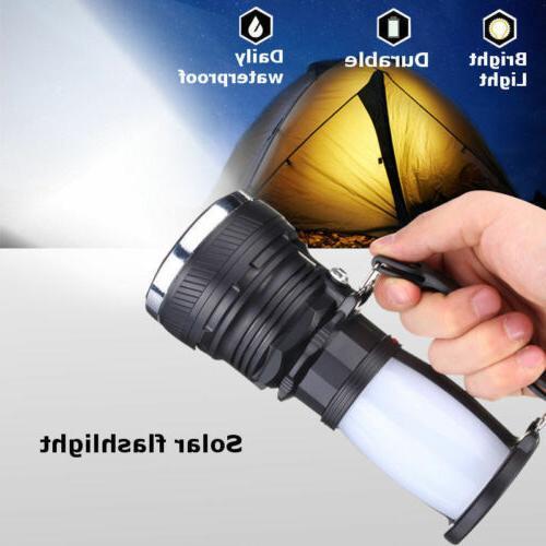 Solar Power Rechargeable LED Flash Camping Light Lantern Lamp EN