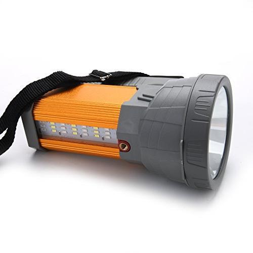 Super Rechargeable LED Spotlight Powered Searchlight Battery 10000mah Lasting Side Lantern Work