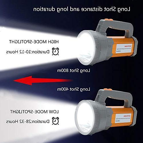 Super Bright Spotlight Powered 6000 CREE Handheld Searchlight 10000mah Long Side Flood Lantern Work