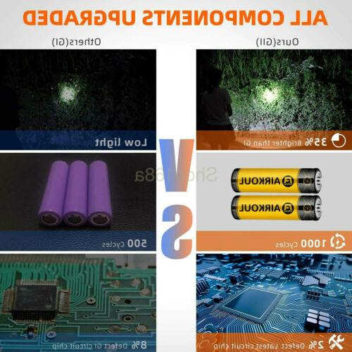T6 Flashlight Military LED Torch Rechargeable Battery