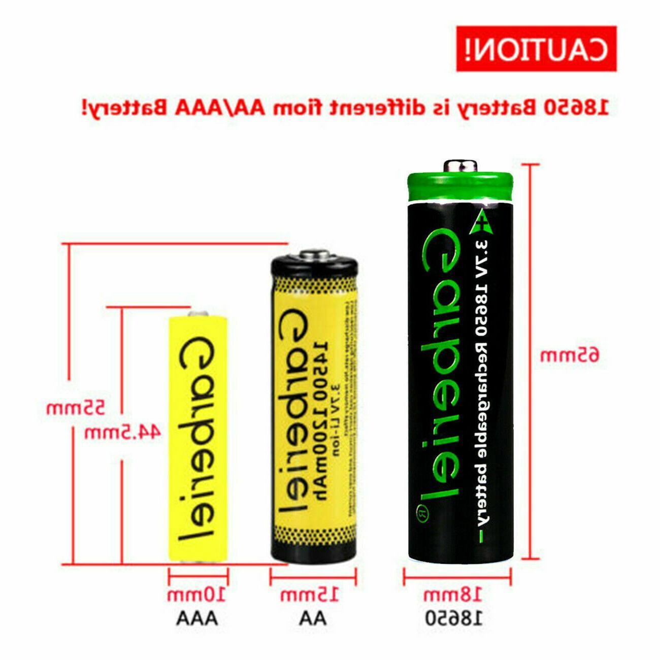 T6 18650 Li-ion Battery Rechargeable Batteries +Dual