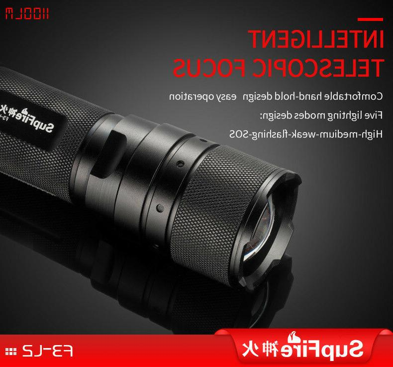 Ultra Bright Flashlight 18650 Rechargeable