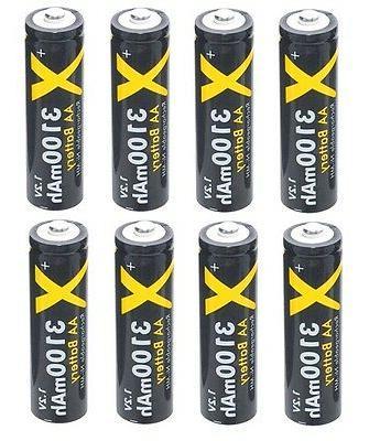 Hi Capacity 3100mAh Rechargeable 8 - AA Battery For Nikon Co