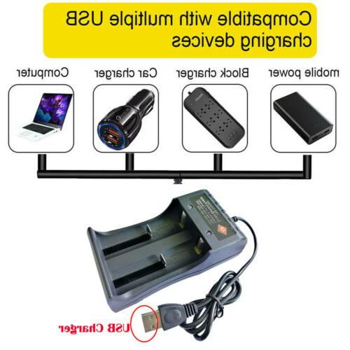 4 Pack Rechargeable Li-ion 3.7V with USB Universal