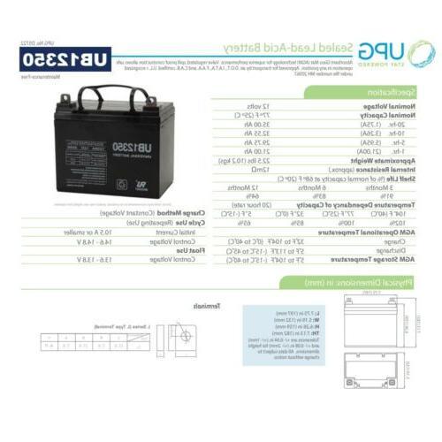 UPG UB12350 SLA Battery for Clore Automotive