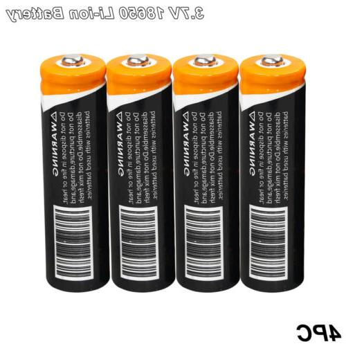 4x Battery Li-ion Torch Charger