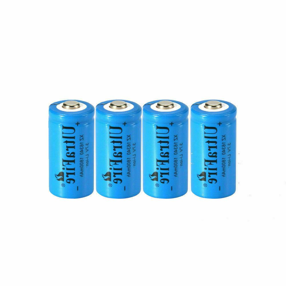 USA 1800mAh 16340 3.7V Rechargeable 16340 Battery