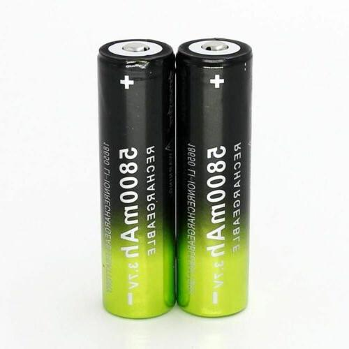 USA 18650 Battery 5800mAh Rechargeable For LED
