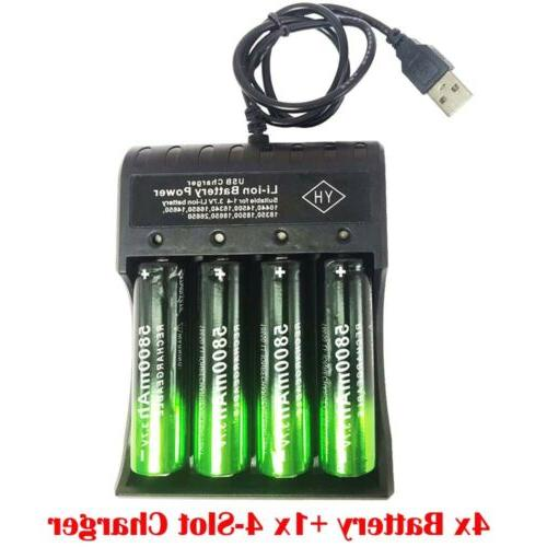USA Skywolfeye 18650 Battery 5800mAh Li-ion 3.7V Rechargeable For