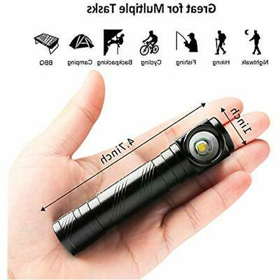 USB Handheld Flashlights Rechargeable LED Tactical