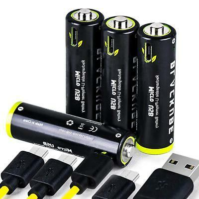 usb rechargeable lithium batteries aa