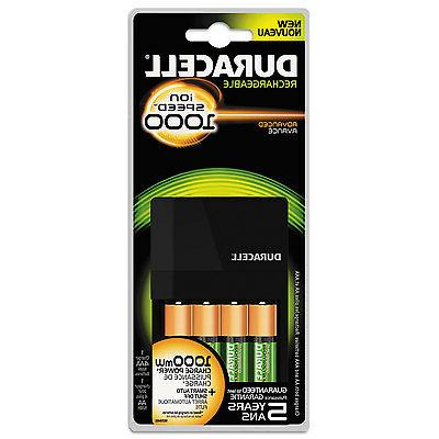 Duracell Fastest Value Charger with 4 AA Batteries 1 Kit