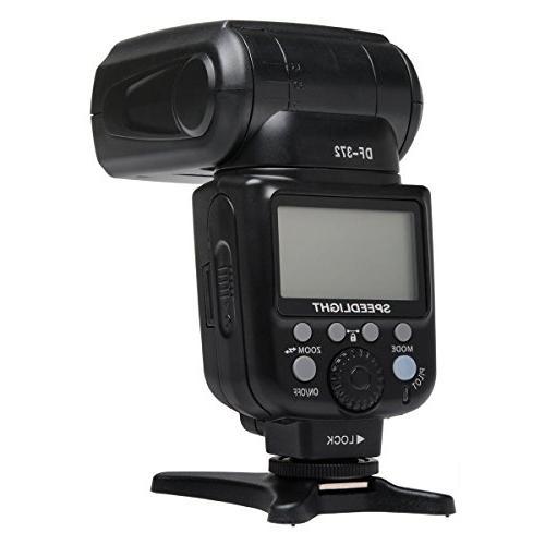 Vivitar DF-372 TTL Flash Bundle Digital SLR Cameras: Flash, Bracket, Cord, Diffuser, Rechargeable Batteries Camera