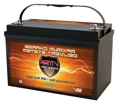 vmax slr125 sealed solar agm battery 12