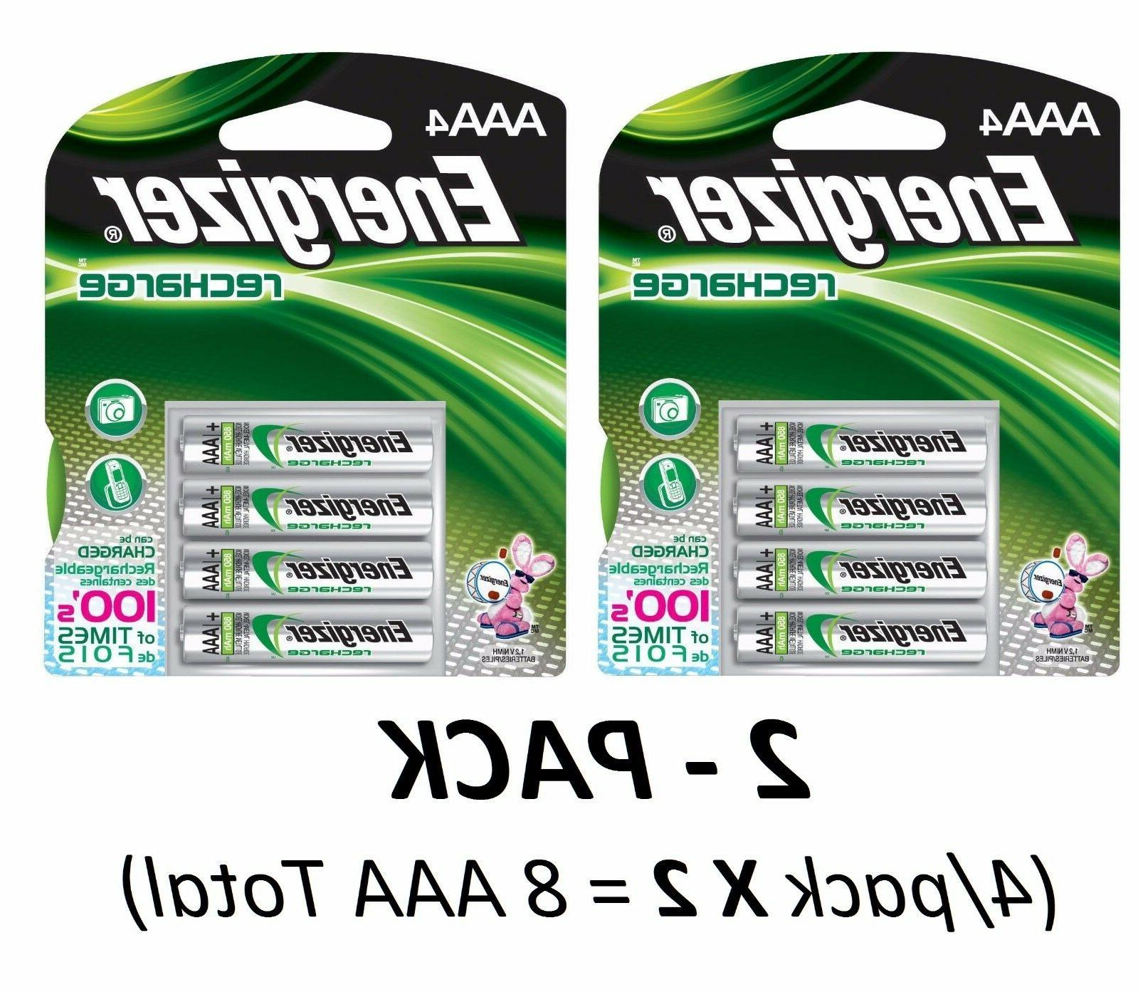 x2 4 pack aaa rechargeable nimh batteries