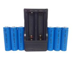 LCR 14500 battery,6Pcs 2000mah 14500 3.7V AA Rechargeable