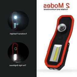 LED+COB Rechargeable/Battery Operated Magnetic Torch Inspect