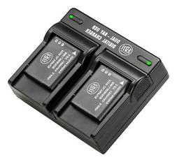 BM Premium Pack of 2 LI-90B, LI-92B Batteries and USB Dual B