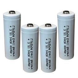 Exell Battery 3.2V Li-FePO4 Size 14430  400mAh Rechargeable