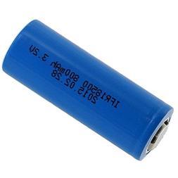3.2V 800mAh Li-FePO4 18500 Rechargeable Battery For Solar Li