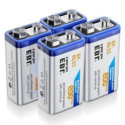 EBL 4Packs 9V Li-ion Rechargeable Battery
