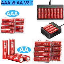 Lot 1000mAh AAA / 2300mAh  AA NiMh Rechargeable Batteries /