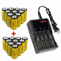 Lot 16340 Battery CR123A Rechargeable 3.7V Li-Ion Batteries