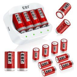 Lot EBL 16340 RCR123A 3.7V Li-ion Rechargable Battery / 4 Sl
