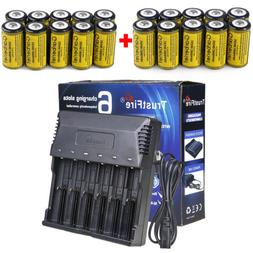 Lot 1800mAh 16340 CR123A 3.7V Rechargeable Batteries Lithium
