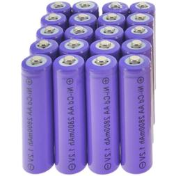 20 AA Rechargeable Battery NiCd 2800mAh 1.2v Garden Solar Ni
