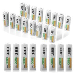 EBL Lot 2800mAh AA Rechargeable Batteries NI-MH Battery For