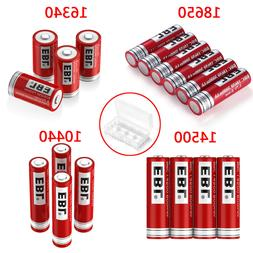 Lot EBL 3.7V 18650 16340 14500 10440 26650 Rechargeable Batt