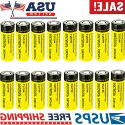 Lot 3000mAh 18650 3.7V Battery High Drain Rechargeable Flat