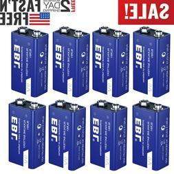 Lot 9V 9 Volt Alkaline Battery 6LR61 Batteries Ultra Long La