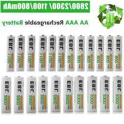 EBL Lot AA AAA 2800mAh 2300mAh 1100mAh 800mAh NI-MH Recharge