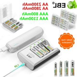 EBL AAA AA 2800/1100mAh Ni-MH Rechargeable Battery Batteries