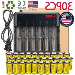 Lot 1800mAh CR123A 16340 Battery 3.7V Li-ion Rechargeable Ba