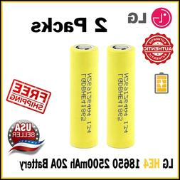 Lot LG HE4 IMR 18650 Battery 3.7V Rechargeable 2500mAh 20A F